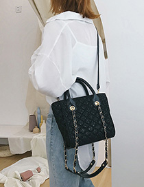 Black Lace Crossbody Bag