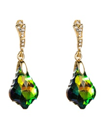 Fashion Green Acrylic Diamond Earrings