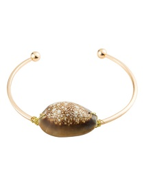 Fashion Brown Alloy Shell Bracelet