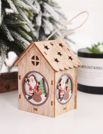Fashion Color Old Wooden House Assembling Illuminated Wooden House: Old Man: Christmas Tree Ornaments