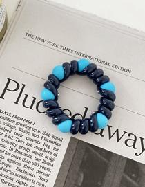 Fashion Navy Scrub Peas Phone Rope Hair Ring