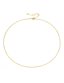 Fashion Gold Copper Chain Necklace