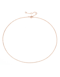 Fashion Rose Gold Copper Chain Necklace