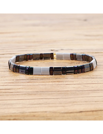 Fashion Coffee Color Rice Beads Woven Bracelet