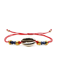 Fashion Color Beaded Beaded Natural Shell Bracelet