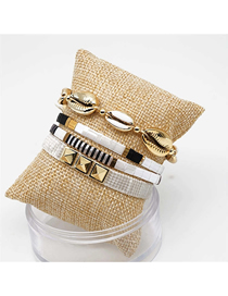 Fashion Set Color Willow Nail Beads Woven Shell Bracelet