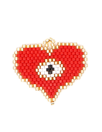Fashion Red Love Eyes Rice Beads Knitting Accessories