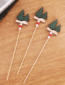 Fashion Christmas Tree Cuttings A Pack Of 3 Wooden Santa Claus