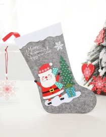 Fashion Large Old Man Christmas Stocking Santa Claus Socks