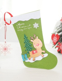 Fashion Large Elk Christmas Stockings Santa Claus Socks