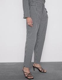Fashion Lattice Plaid Pants