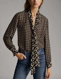 Fashion Black Chain Printed Shirt