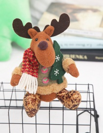 Fashion Elk Sitting Posture Doll Cloth Doll Christmas Ornaments