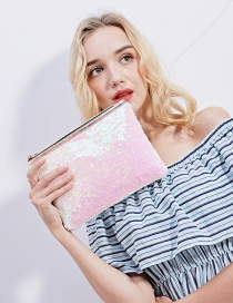 Fashion Powder + White Mermaid Sequin Bag