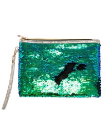 Fashion Green + Black Mermaid Sequin Bag