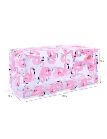 Fashion Pink Flamingo Transparent Cosmetic Bag