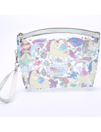 Fashion Letter Unicorn Pvc Printed Cosmetic Bag