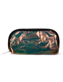 Fashion Brown Pvc Laser Transparent Clutch