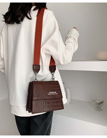 Fashion Brown Broadband Crocodile Shoulder Shoulder Bag