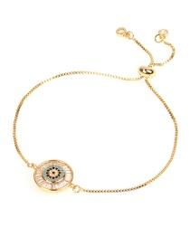 Fashion Gold Fully Diamonded Eye Micro-inlaid Zircon Bracelet