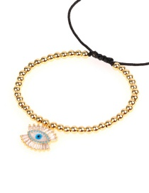 Fashion Gold Eye Long Eyelashes With Diamond Drop Bracelet
