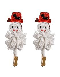 Fashion Color Snowman Rice Earrings