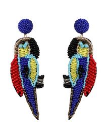Fashion Color Animal Parrot Rice Earrings
