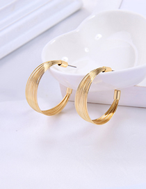 Fashion Semicircular Earring Geometric Semicircular Stud Earrings