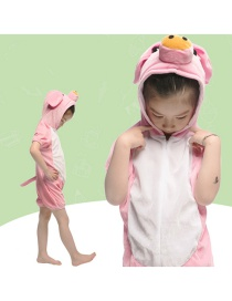Fashion Pink Pig Conjoined Short Cartoon Powder Pig Costume