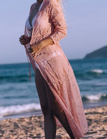 Fashion Pink Lace Sun Protection Dress