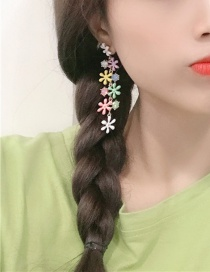 Fashion Color Artificial Gemstone Tassel Earrings