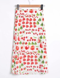 Fashion White Lace-up Floral Print Skirt