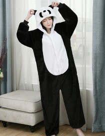 Three-dimensional Panda Flannel Cartoon One-piece Pajamas