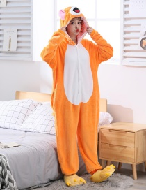 Zodiac Rat Flannel Cartoon One-piece Pajamas