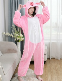 Eight Precepts Flannel Cartoon One-piece Pajamas