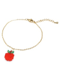 Apple Red Rice Beads Woven Fruit Bracelet