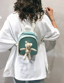 Fashion Light Green Cartoon Bunny Doll Small Backpack