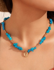 Fashion Gold Alloy Beads Crushed Stone Shell Necklace