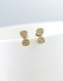 Fashion Gold S925 Silver Pin Micro Inlaid Zircon Bow Earrings