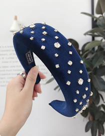 Fashion Sapphire Sponge Wide-necked Nail Diamond Headband