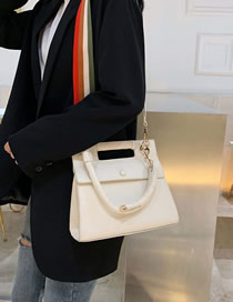 Fashion Creamy-white Solid Color Shoulder Bag Diagonal Cross Package