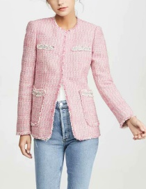 Fashion Pink Burst Coat
