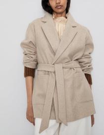 Fashion Khaki Coats
