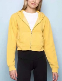 Fashion Yellow Hooded Sweater