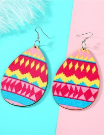 Fashion Color Wood Earrings