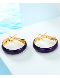 Fashion Purple Round Hoop Earrings
