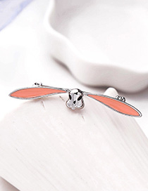 Fashion Platinum Drop Glaze Rabbit Brooch