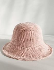 Fashion Light Board Knit Pink Milk Silk Fisherman Hat