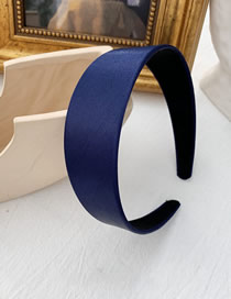 Fashion Navy - Satin Imitation Satin Wide-brimmed Headband