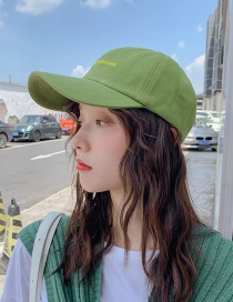 Fashion Pycck Green Letter Baseball Cap